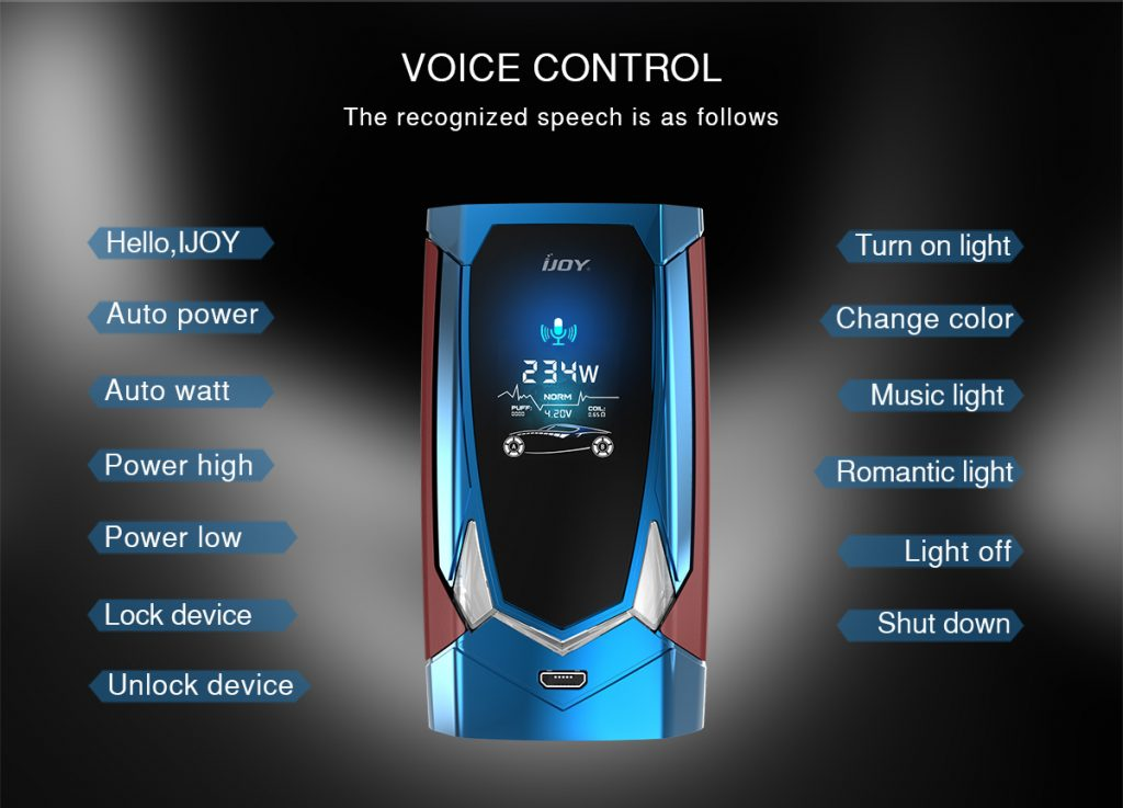 ijoy avenger voice control function