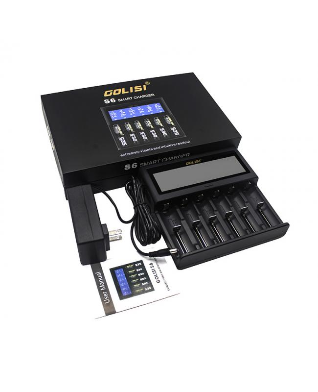 Golisi S6 6 Slots Battery Charger
