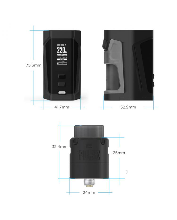 Vandy Vape Pulse Dual Squonk Kit With Pulse V2 RDA
