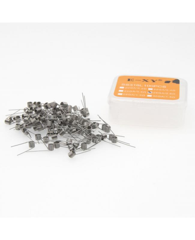 100PCS SS316L Pre-Built Coils