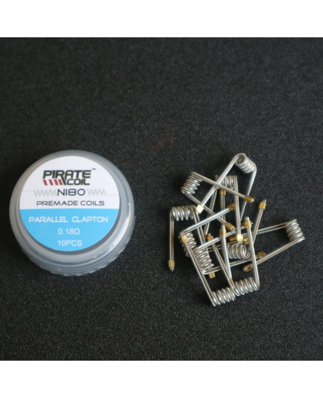 Pirate NI80 Parallel Clapton Coils