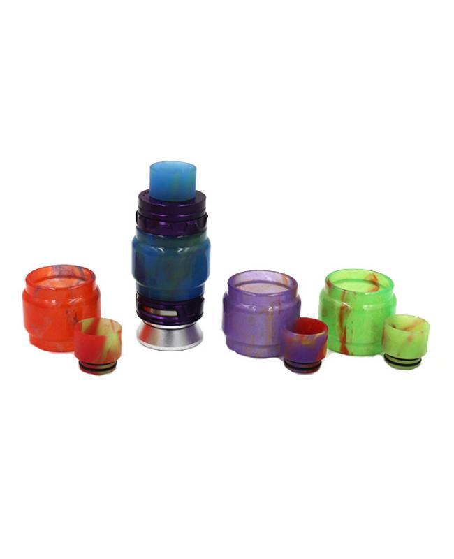 TFV12 Prince Resin Glass Tank Drip Tip