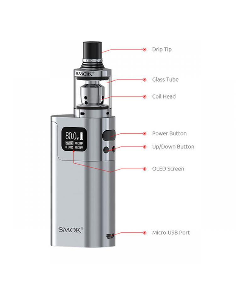 smok g80 80w temp control starter kit