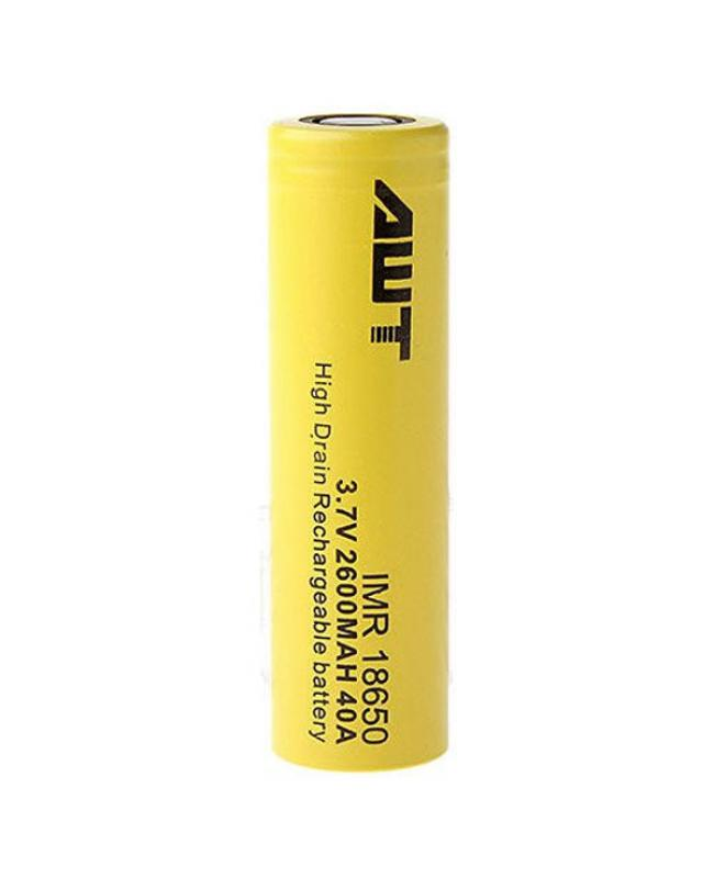 AWT 2600mAh High Drian 40A 18650 Battery