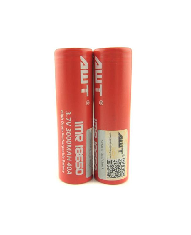 AWT 18650 3.7V 3000mAh High Drian 40A Battery