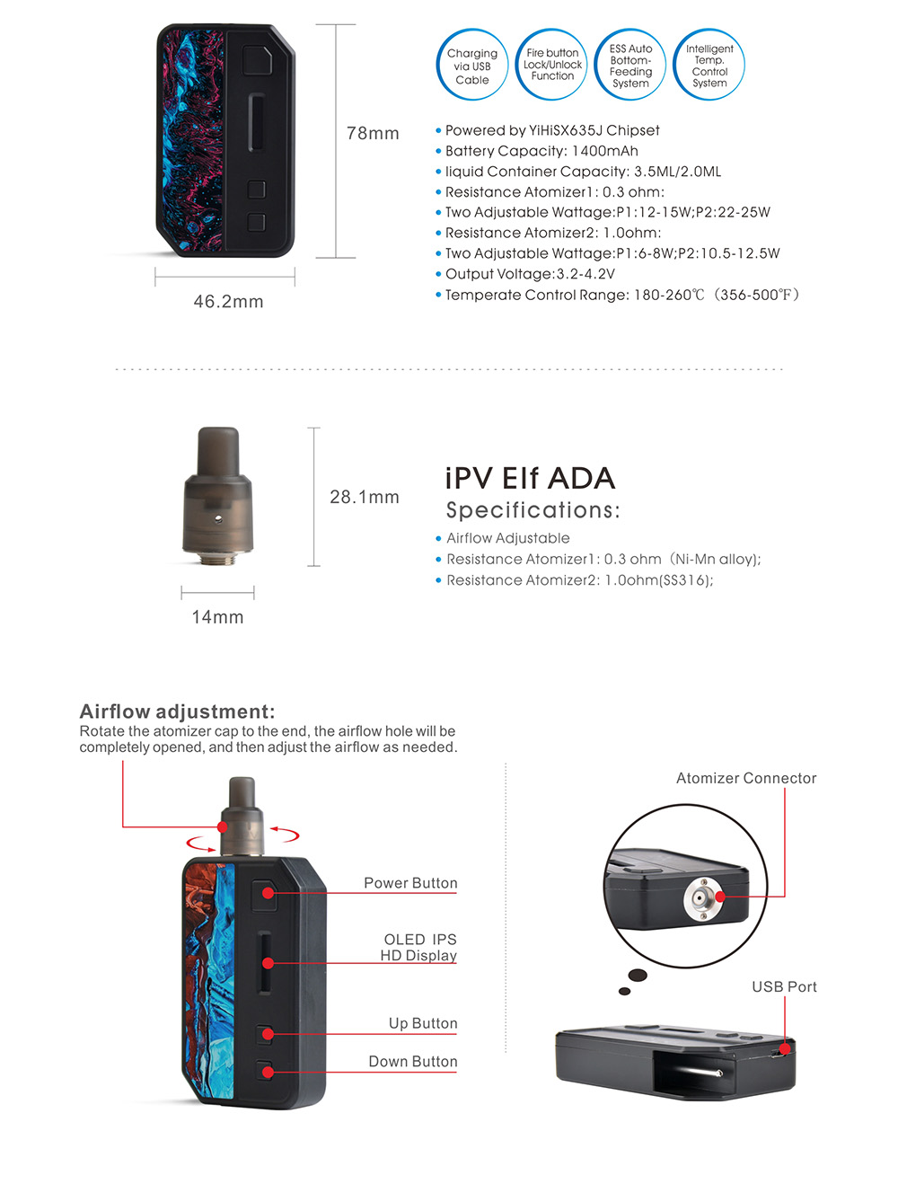 Pioneer4you IPV V3 Mini Pod Kit