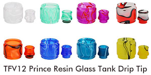 tfv12 PRINCE resin glass tank drip tip